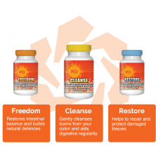 Freedom, Cleanse & Restore - 120 capsules of each (2 months)