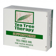 Tea Tree Vaginal Suppositories - pack of 6